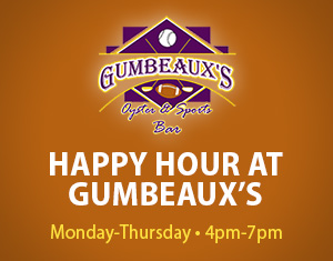 Happy Hour in Gumbeaux's Sports Bar