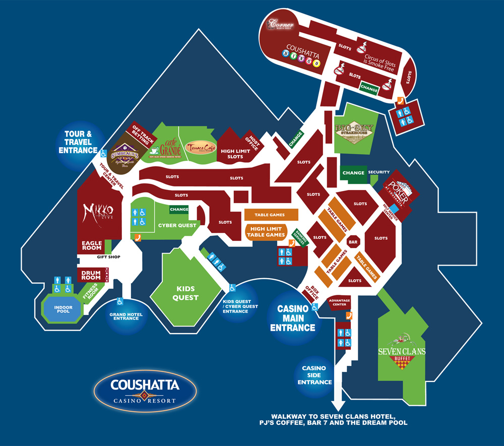 Gambling casinos in louisiana map