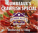 Gumbeaux's Crawfish Available