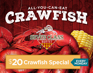 $20 Monday Crawfish Special at Seven Clans Buffet