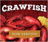 Crawfish Season Now Serving