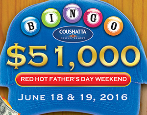 Bingo RED HOT Father's Day Weekend