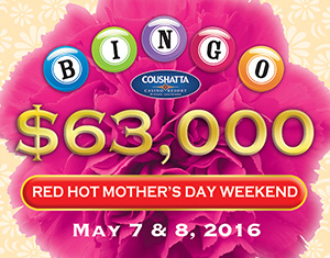 Bingo RED HOT Mother's Day Weekend