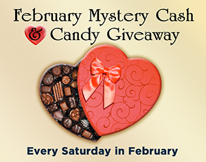Poker's February Mystery Cash & Candy Giveaway