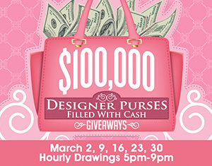 Designer Purses Filled with Cash Giveaways