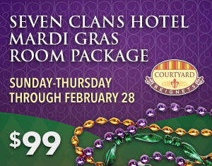 Seven Clans Hotel Mardi Gras Room Package