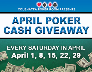 Poker's April Cash Giveaways