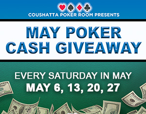 Poker's May Cash Giveaways