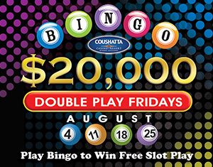 Bingo $20,000 Double Play Fridays