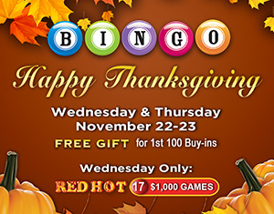 Bingo Thanksgiving Celebration