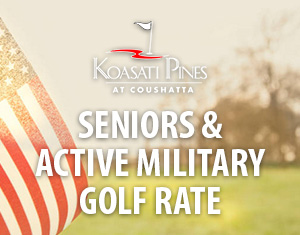 Seniors & Active Military Golf Rate
