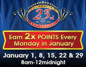 23rd Anniversary Double Slot Club Points