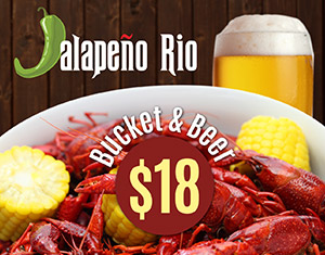 Friday Crawfish Special at Jalapeño Rio