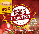 Crawfish Bucket Special at Terrace Cafe