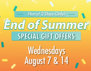 End of Summer Special Gift Offers