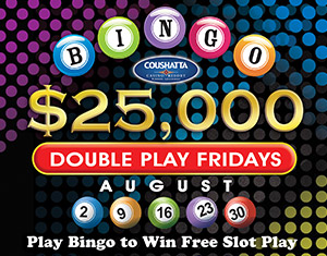 Bingo $25,000 Double Play Fridays
