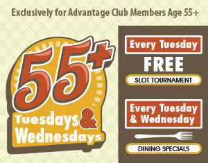 55+ Tuesdays & Wednesdays