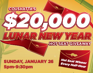 25th Anniversary $20,000 Lunar New Year Hot Seat Giveaway