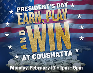 President's Day Earn, Play and Win