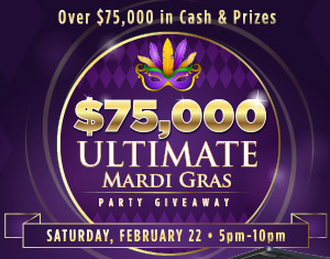 $75,000 Ultimate Mardi Gras Party Giveaway