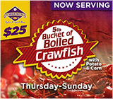 Crawfish at Gumbeaux's Now Serving
