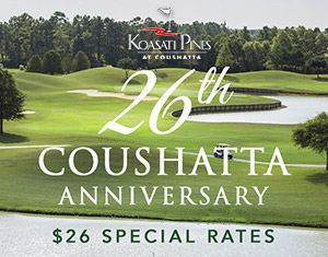 26th Anniversary Golf Special Rates