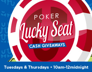Poker Lucky Seat Cash Giveaways