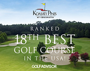 Koasati Pines Ranked 18th Best Golf Course in the USA!