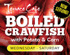 Crawfish Special at Terrace Cafe